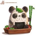 Daily Paint #1157. Rice Ball Panda