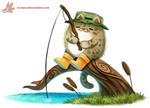 Daily Paint #1160. Fishing Cat