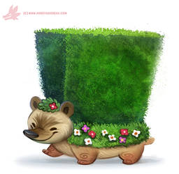 Daily Paint #1162. Hedge-hog by Cryptid-Creations