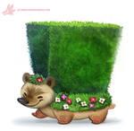 Daily Paint #1162. Hedge-hog