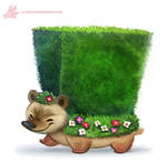Daily Paint #1162. Hedge-hog
