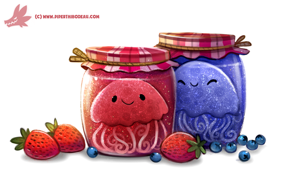 Daily Paint #1163. Jelly-Fish by Cryptid-Creations