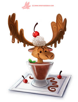 Daily Paint #1168. Chocolate Mousse