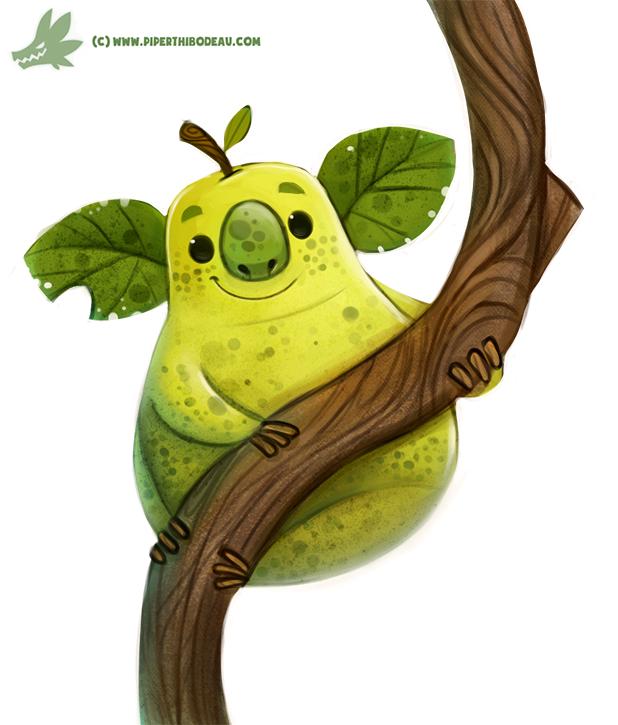 Daily Paint #1171. Koala Pear