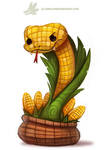Daily Paint #1172. Corn on the Cobra