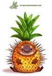 Daily Paint #1174. Porcupine Apple