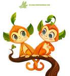 Daily Paint #1175. Leaf Monkeys