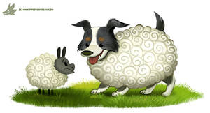 Daily Paint #1176. Sheepdog
