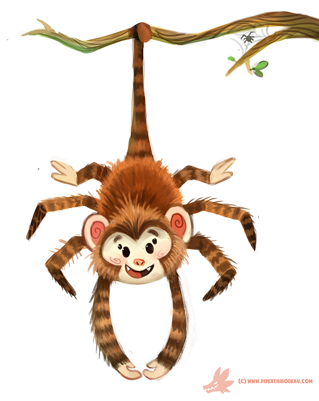 Daily Paint #1182. Spider Monkey by Cryptid-Creations