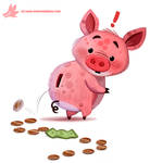 Daily Paint #1183. Piggy Bank