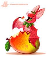 Daily Paint #1184. Fruit Bat