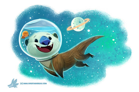 Daily Paint #1186. Otter Space