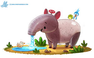 Daily Paint #1187. Tap'ir by Cryptid-Creations