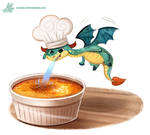Daily Paint #1190. Creme Brulee