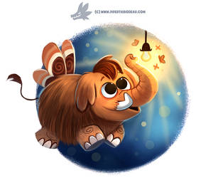 Daily Paint #1192. MamMoth