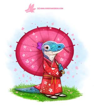 Daily Paint #1194. Kimono Dragon