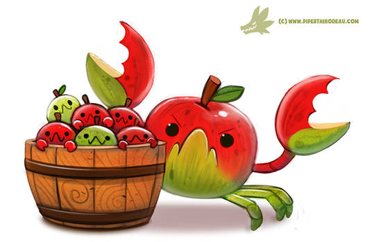 Daily Paint #1196. CrabApples