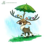 Daily Paint #1199. Raindeer