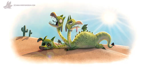 Daily Paint #1200. De-hydra