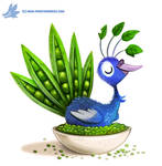 Daily Paint #1202. Pea-cock