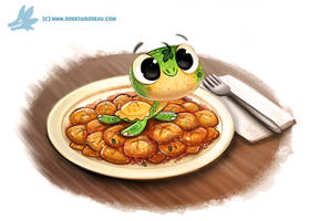 Daily Paint #1203. Torto-lini by Cryptid-Creations