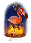 Daily Paint #1218. Flameingo