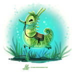 Daily Paint #1219. Seahorse