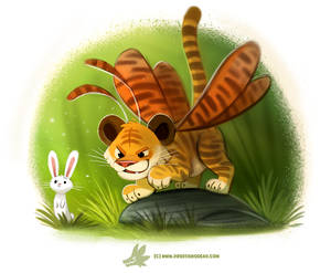 Daily Paint #1225. Tiger Moth