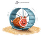 Daily Paint #1228. Ham-ster