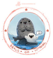 Daily Paint #1232. Seals of Approval by Cryptid-Creations