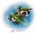 Daily Paint #1233. Peter Panda