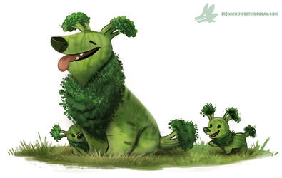 Daily Paint #1234. Broccollie