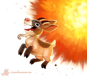 Daily Paint #1235. Escapegoat by Cryptid-Creations