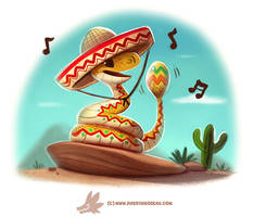 Daily Paint #1239. Rattlesnake