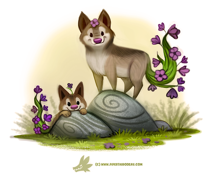 Daily Paint #1247. Wolfsbane by Cryptid-Creations