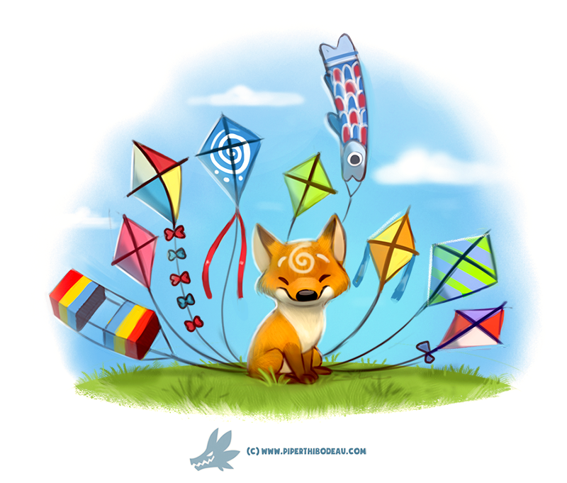 Daily Paint #1251. Kitesune by Cryptid-Creations