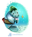 Daily Paint #1255. Manatea Time