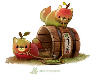 Daily Paint #1263. Pommeranie by Cryptid-Creations
