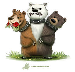 Daily Paint #1266. Cerbearus