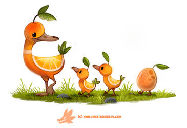 Daily Paint #1268. Duck a L'orange by Cryptid-Creations