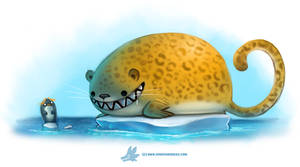 Daily Paint #1269. Leopard Seal
