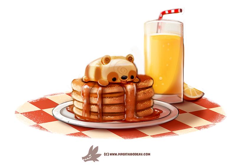Daily Paint #1271. Pandcakes