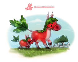 Daily Paint #1272. Horseradish by Cryptid-Creations