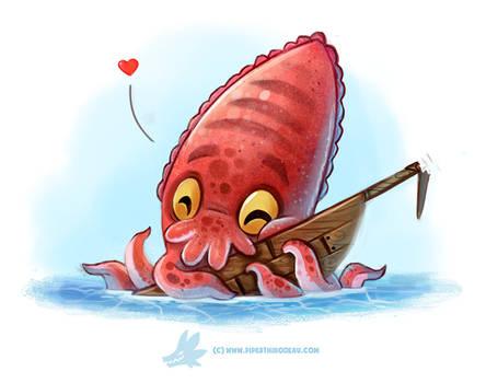 Daily Paint #1274. Cuddlefish