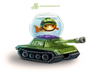 Daily Paint #1276. Fish Tank by Cryptid-Creations