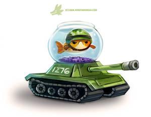 Daily Paint #1276. Fish Tank