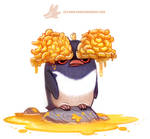 Daily Paint 1280. Macaroni Penguin
