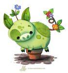 Daily Paint 1281. Pot-Bellied Pig