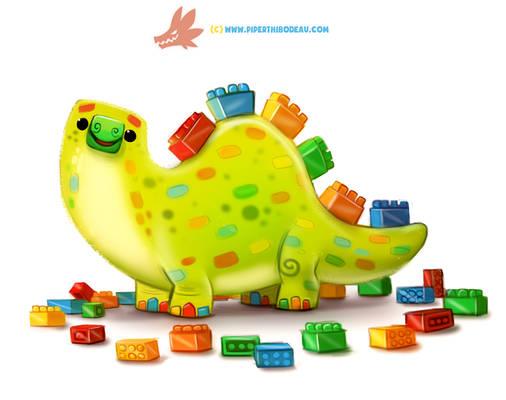 Daily Paint 1282. Legosaurus