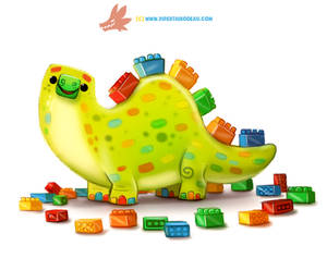 Daily Paint 1282. Legosaurus